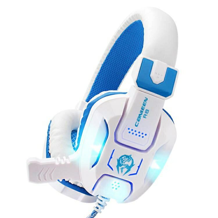 頭戴式耳機 佳合R8頭戴式電競游戲耳機臺式機電腦筆記本網吧耳麥帶麥克風話筒 夏沐