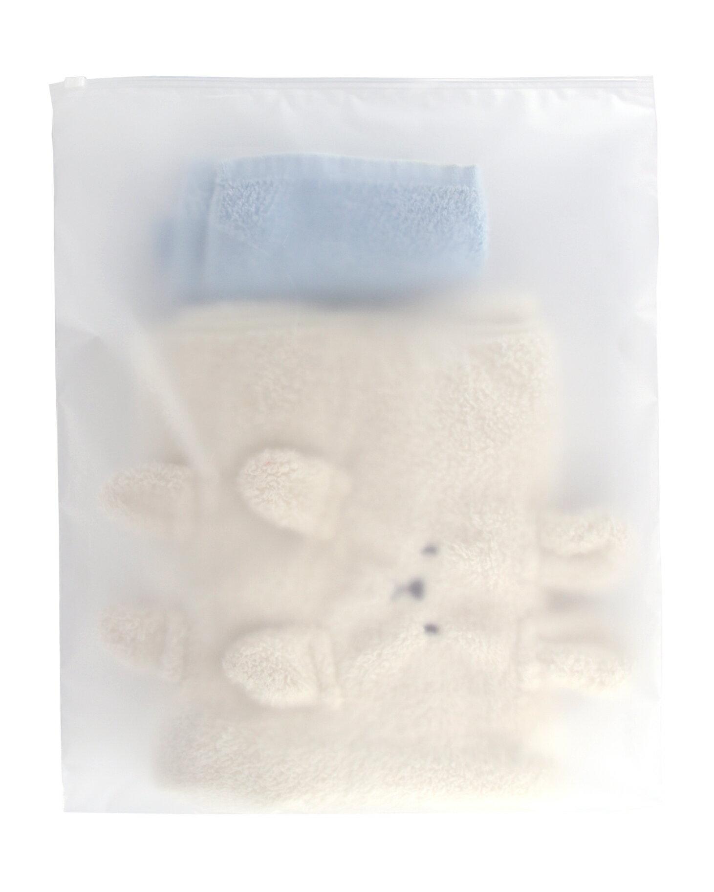 《艾克思》好分類霧面旅行夾鏈收納袋特大號_5入(35x45公分)