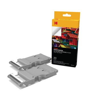(限時) KODAK 柯達 2x3 相片貼紙一體式墨盒*20張(PMS-20) (MINI PM-210印相機 專用)