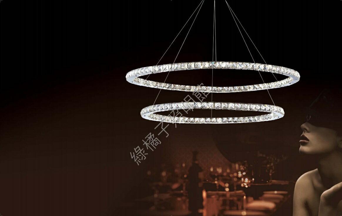 水晶環狀吊燈(二 環)