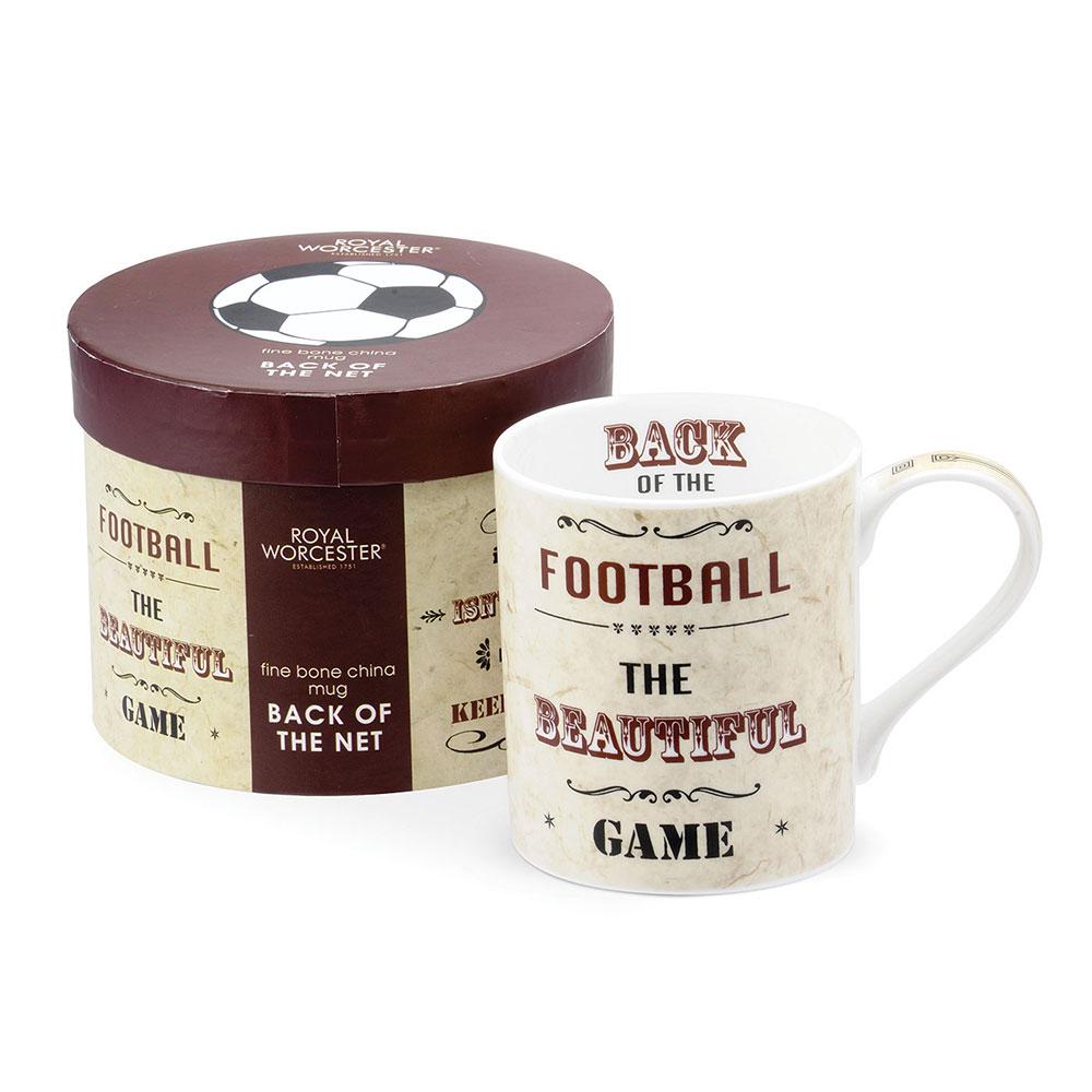 Royal Worcester 英國進口 大容量450ml骨瓷馬克杯禮盒 -足球