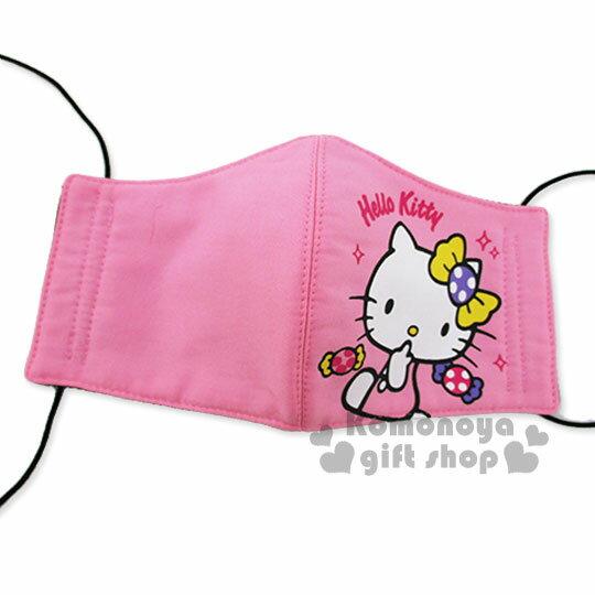 〔小禮堂〕Hello Kitty 成人立體口罩《粉.糖果.亮晶晶》感冒對策用品