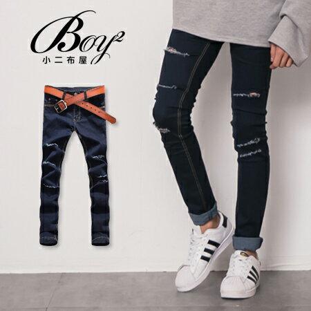 ☆BOY-2☆【OE331】窄管褲 韓版割破牛仔褲 0