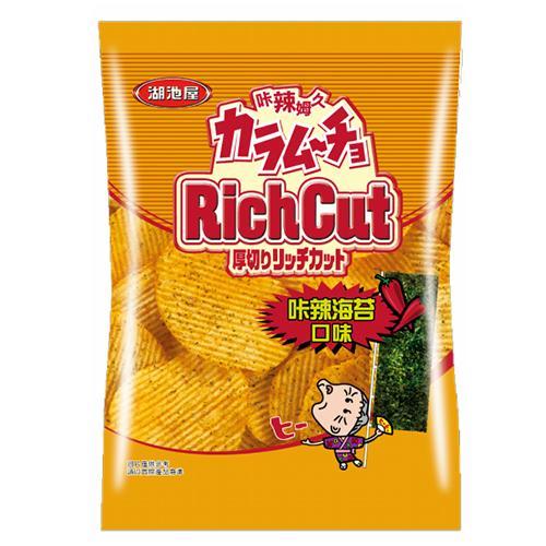 卡辣姆久厚切洋芋片-卡辣海苔78g【愛買】