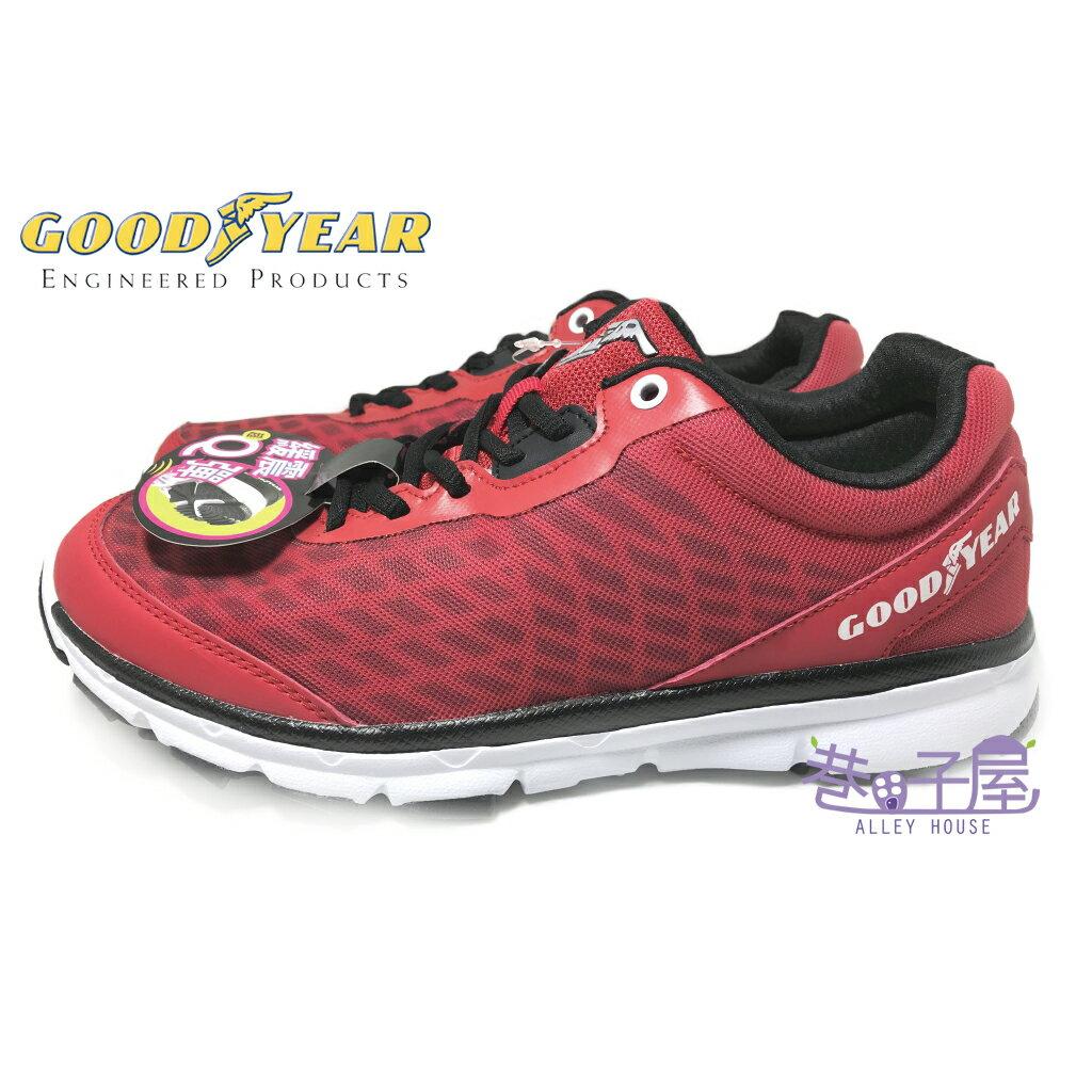 【巷子屋】GOODYEAR固特異 男款緩震越野運動慢跑鞋 [63202] 紅 超值價$690