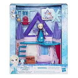 《 Disney 迪士尼 》冰雪奇緣迷你公主雙層屋遊戲組
