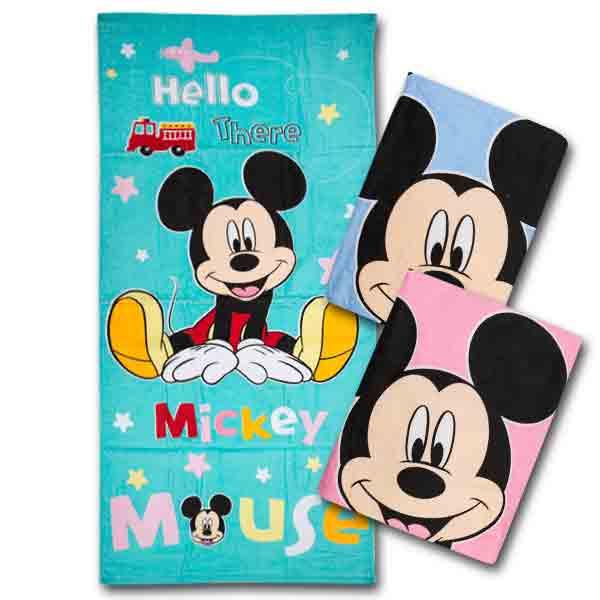 【Disney迪士尼-BPD02338】繽紛米奇小浴巾 1入