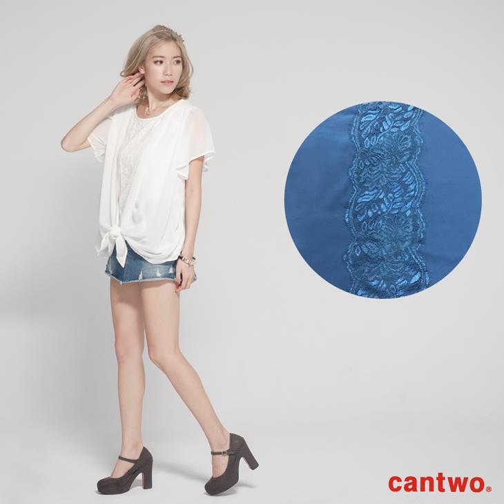 cantwo雪紡蕾絲假兩件上衣(共二色) 6