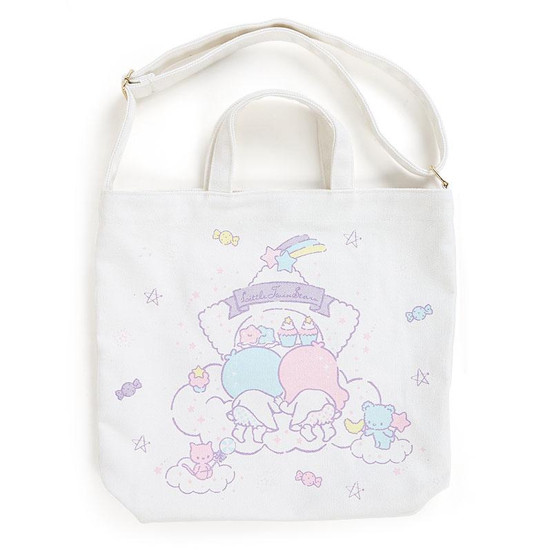 【真愛日本】17031500017 帆布兩用側背提袋-TS星雲AAG 三麗鷗家族 Kikilala 雙子星 側背包 提袋 包包