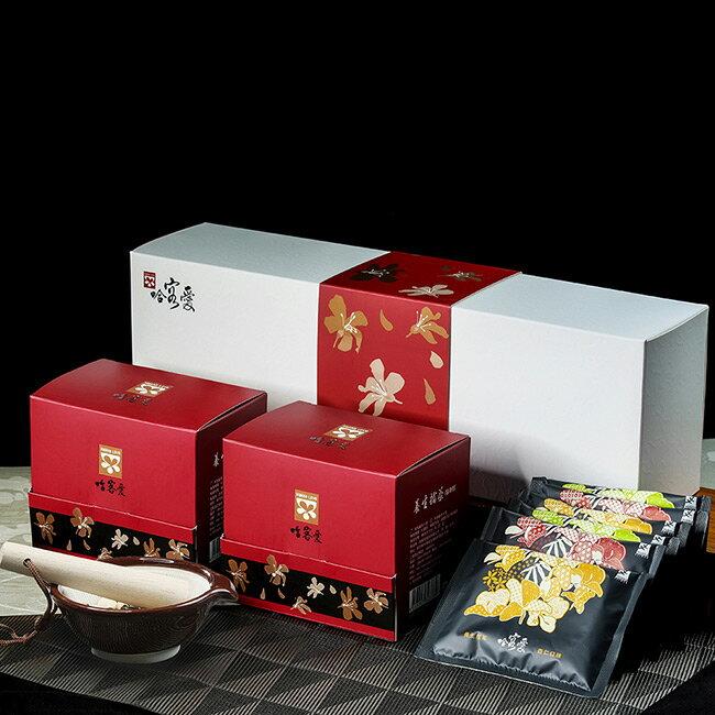 【哈客愛】金桐擂茶禮盒C組(隨身包綜合6入* 2盒) 北埔客家擂茶名產,送禮高貴大方 養生 高纖 低糖 低熱量