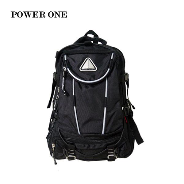 【加賀皮件】POWER ONE 休閒多功能 多收納 後背包 電腦包 8825