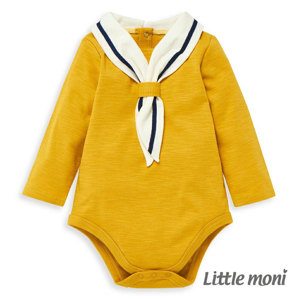 Little moni 海軍學院風包屁衣-黃色(好窩生活節) 0