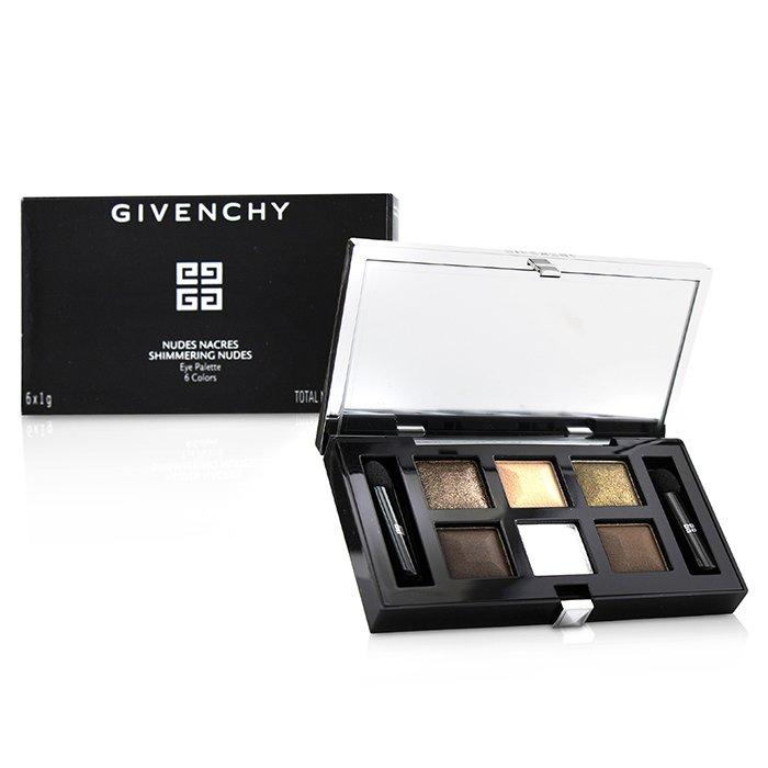 草莓網Strawberrynet Givenchy 紀梵希 眼彩盤(6x眼影、2x眼影刷)Nudes Nacres Shimmering Nudes Eye Palette  6g/ 0...