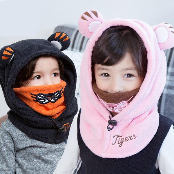 冬季兒童加絨附口罩護頸保暖連帽套頭 LM39039