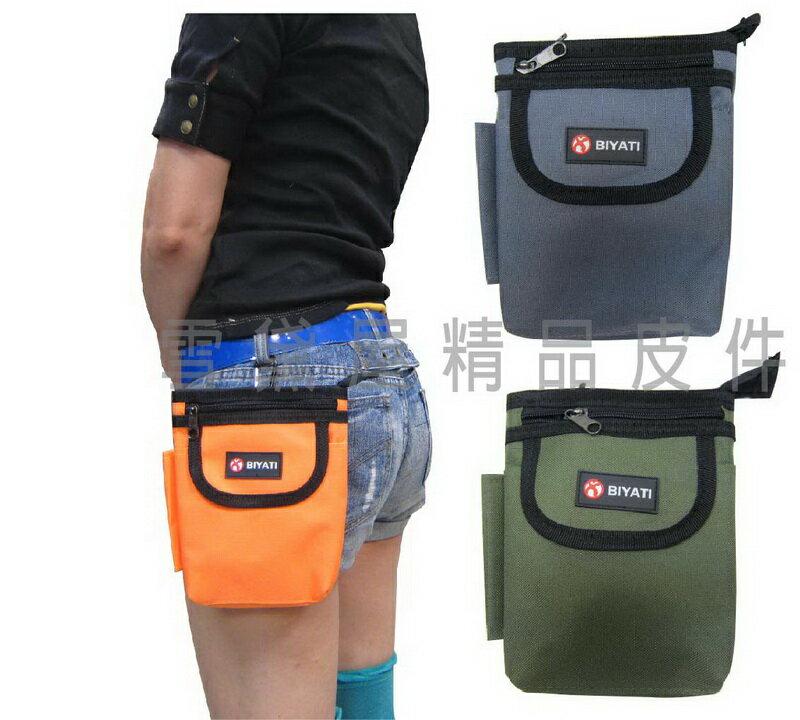 ~雪黛屋~BIYATI 腰掛包腰包台灣製造品質保證隨身物品專用6.5寸手機專用包防水尼龍布材質拉鍊主袋口 #3581