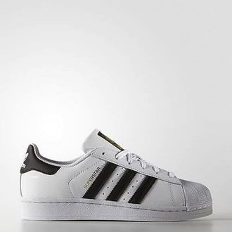 ADIDAS ORIGINALS SUPERSTAR 白黑 金標 大童鞋 US 4~5.5 C77154 D