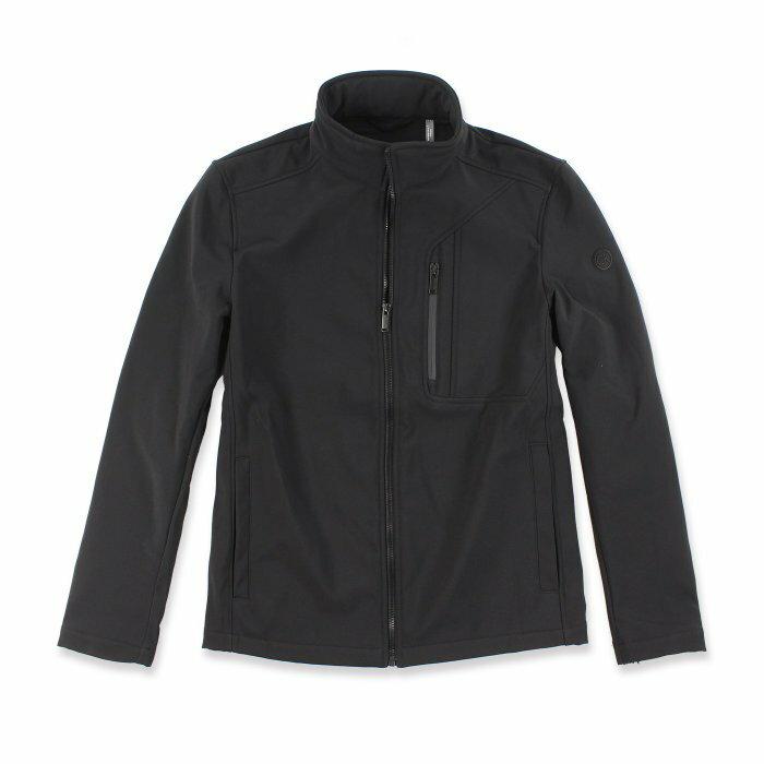 美國百分百【Calvin Klein】外套 CK 夾克 防風 防潑水 透氣 保暖 立領 軟殼 黑色 S號 I666