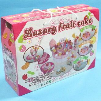生日蛋糕切切樂 FDE-801 大手提盒切切樂/一盒入{促350}~佳-CF99037