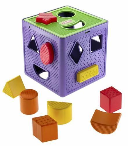 【Playwoods】[PLAYSKOOL][孩之寶-兒樂寶] 積木益智盒 CUBE 九種形狀(建立圖形概念及發展學習)