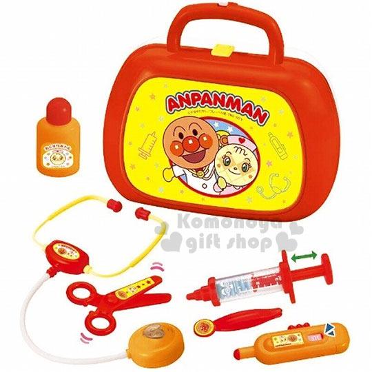 〔小禮堂嬰幼館〕麵包超人 醫生玩具組《橘黃.提盒.波羅超人.橘盒裝》