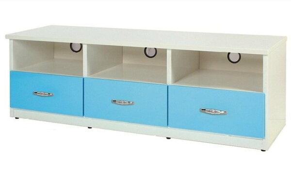 【石川家居】842-06(5尺藍白色)電視櫃(CT-201)#訂製預購款式#環保塑鋼P無毒防霉易清潔