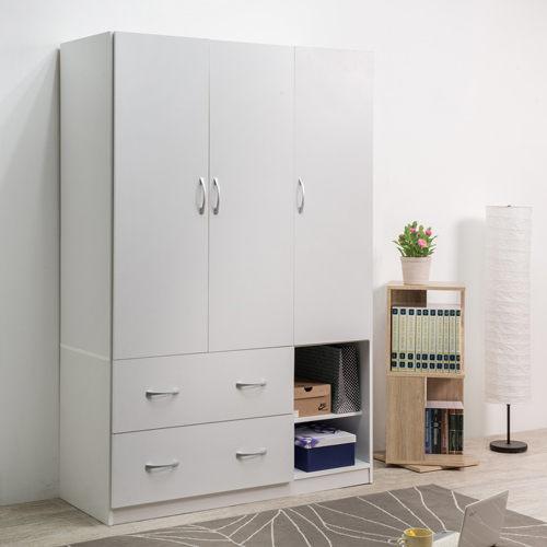 收納櫃 衣櫃 衣櫥【N0039】純白三門二抽衣櫥 MIT台灣製 完美主義