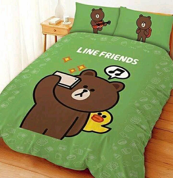 【嫁妝寢具】熊大愛自拍-雙人床包組【床包+枕套*2】5*6.2 台灣製造