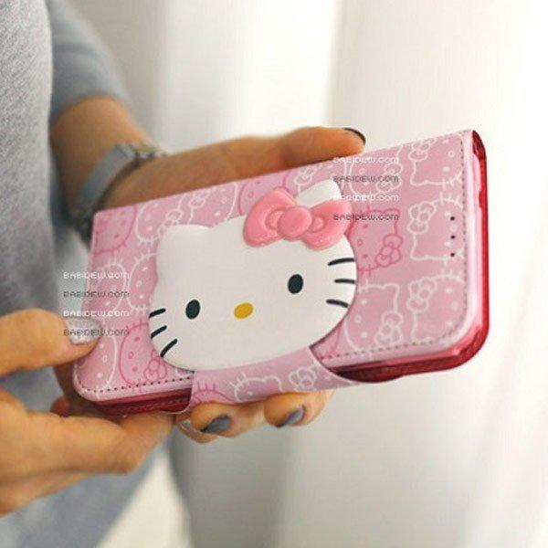 韓國原裝 iPhone 6 I6 PLUS Note3 Note4 KT貓 KITTY 支架皮套 側翻皮套