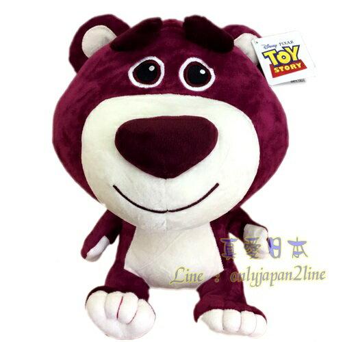 【真愛日本】16090700002大頭紫紅熊抱哥30CM坐娃  迪士尼 玩具總動員 TOY 娃娃 絨毛 擺飾