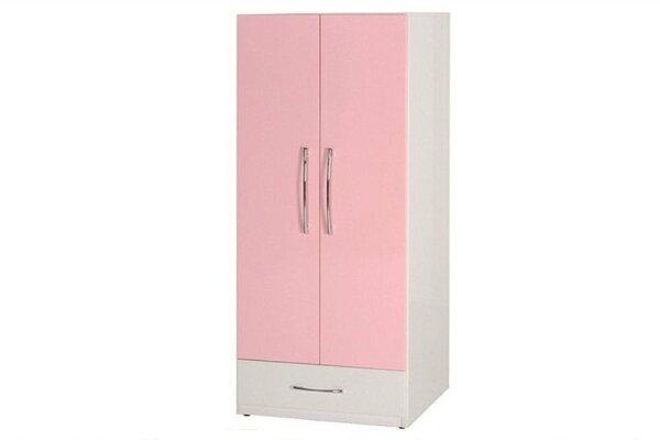 【石川家居】829-02(粉紅白色)衣櫥(CT-112)#訂製預購款式#環保塑鋼P無毒防霉易清潔