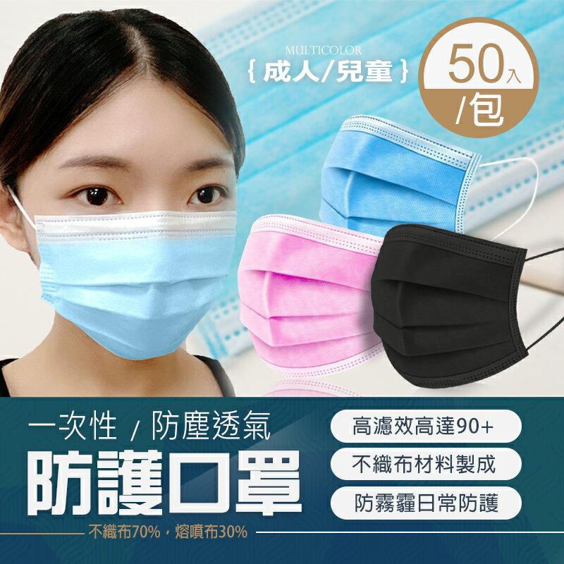 【成人/兒童口罩】三層防護口罩 一次性口罩 防塵 防飛沫 防塵透氣