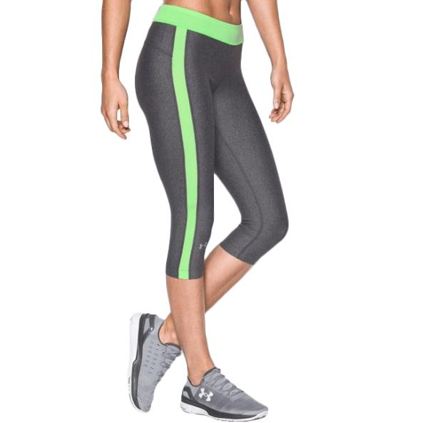 《UA出清5折》Shoestw【1285634-092】UNDERARMOURUA服飾七分束褲緊身褲灰綠女生