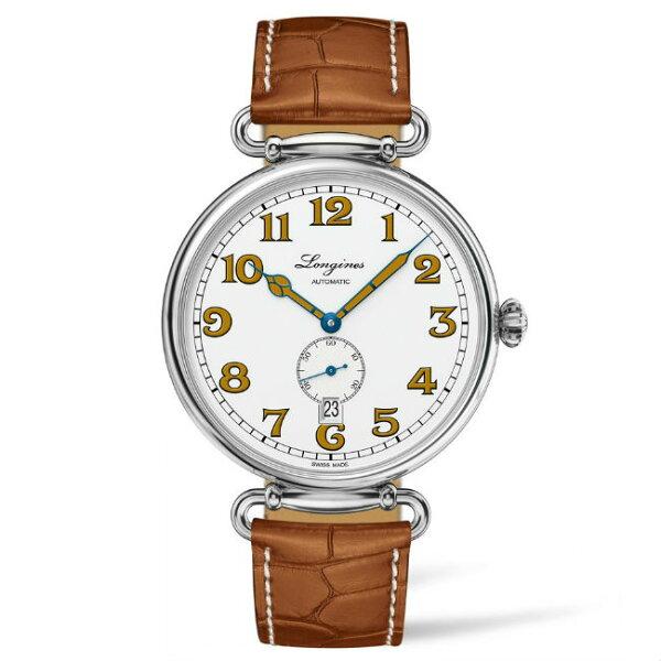 LONGINES浪琴表L28094232復刻系列典雅多功能腕錶白面41mm