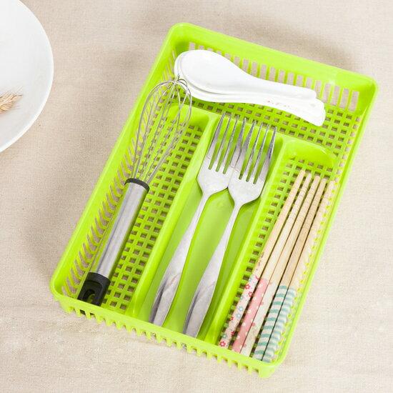 ♚MY COLOR♚鏤空多格桌面收納盒 辦公室 文具 分類 整理 置物 書桌 學生 小資 餐具【J112-6】