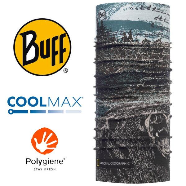 【Buff西班牙】國家地理頻道魔術頭巾系列COOLMAX抗UV頭巾-森林熊蹤/BF117131