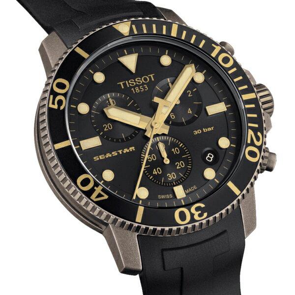 TISSOT天梭Seastar海星300米潛水錶 T1204173705101 1