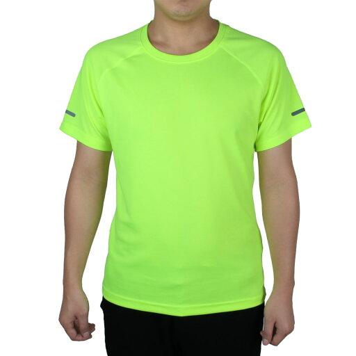 Short Sleeve Tee Clothes Reflective Soccer Sports T-shirt Fluorescent Green S 9d99246465bc2a8fd7893b1e822c2759