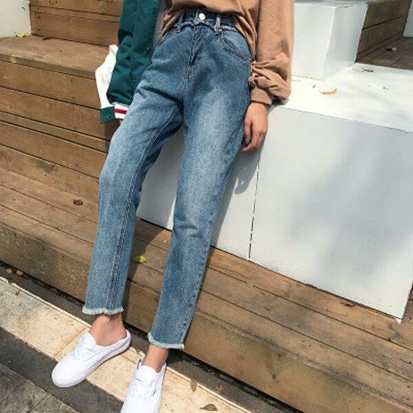 50 OFF SHOP:50%OFFSHOP韓版寬鬆顯瘦百搭牛仔褲直筒褲(1色)(S-L)【G031003P】