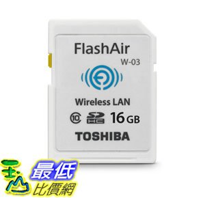 [106美國直購] 存儲卡 Toshiba Flash Air III Wireless SD Memory Card 16GB (PFW016U-1CCW)