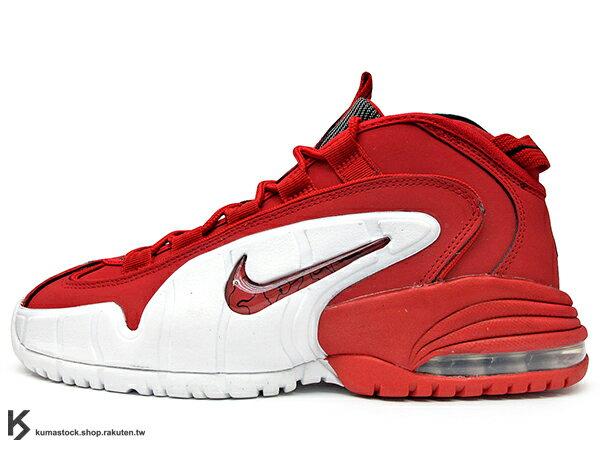 2014 超經典復刻 NSW 重新登場 NIKE AIR MAX PENNY 1 LE GS UNIVERSITY RED 大童鞋 女鞋 紅白 紅白黑 大學紅 全新配色 PENNY HARDAWAY 專屬鞋款 MAGIC 魔術 熱火 (315519-610) !