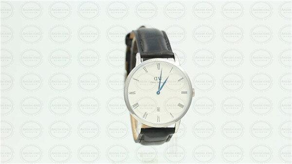 國外代購 瑞典 DW Daniel Wellington 0118DW Dapper 銀框 鱷魚壓紋錶帶 手錶 38mm