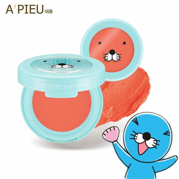韓國APIEUXBONOBONO清涼海獅保濕腮紅膏(2.3g)【庫奇小舖】