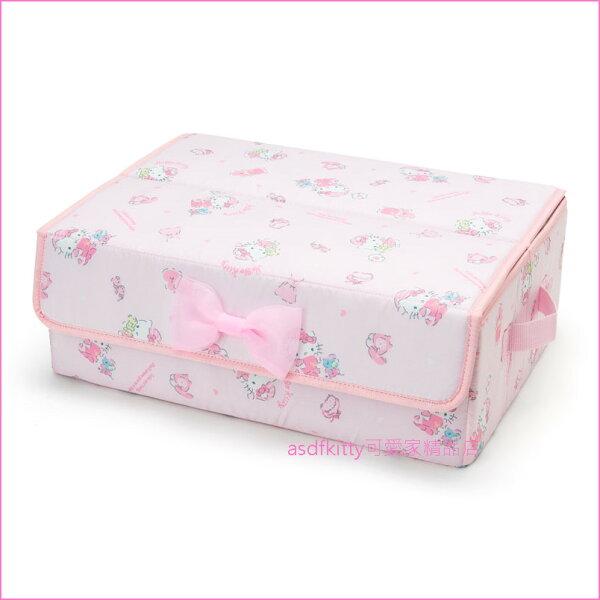asdfkitty可愛家☆KITTY粉睡衣貼身衣物收納箱整理箱-日本正版商品