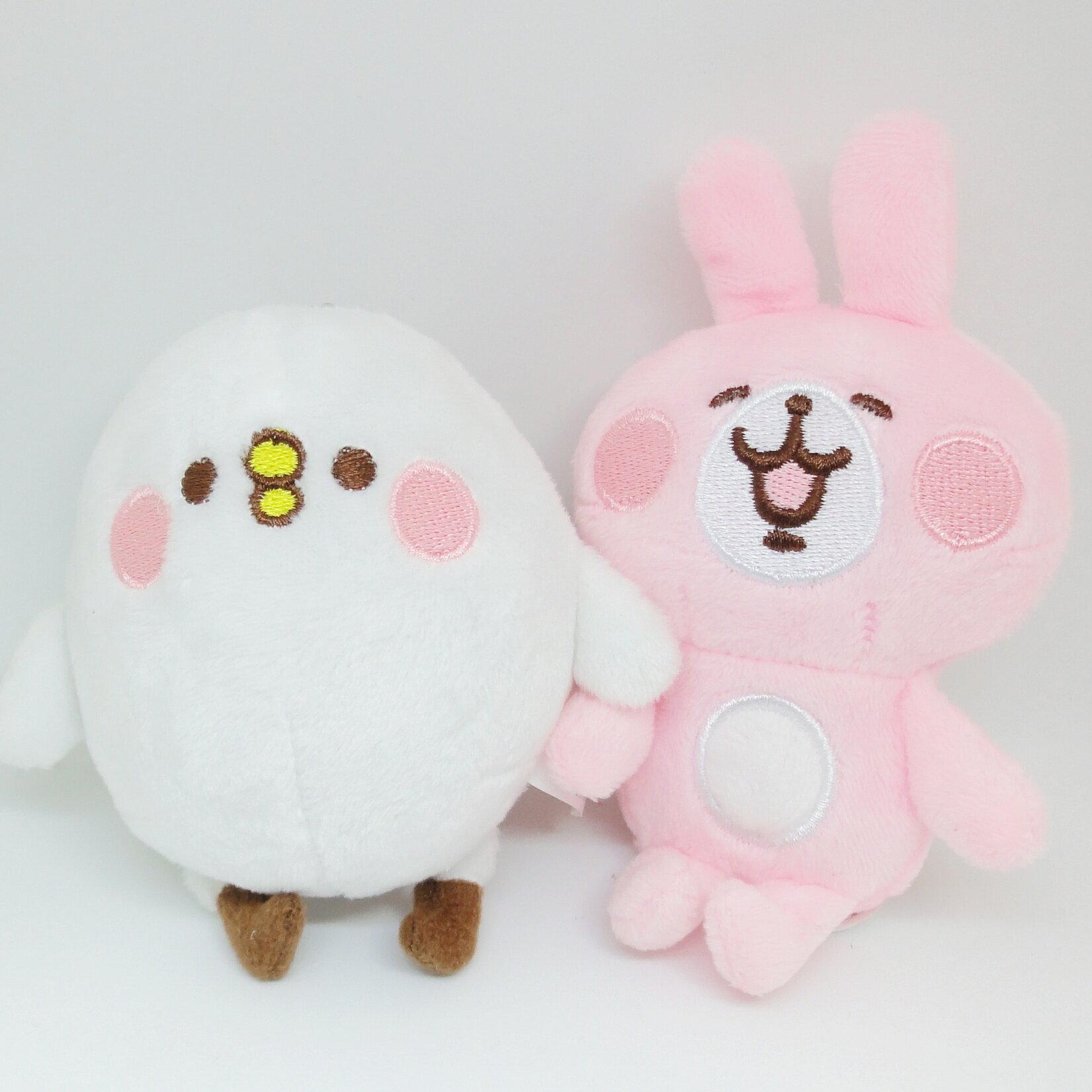 【UNIPRO】Kanahei 卡娜赫拉的小動物 小雞P助 粉紅兔兔 絨毛玩偶 娃娃 珠鍊吊飾 三貝多正版授權 禮物