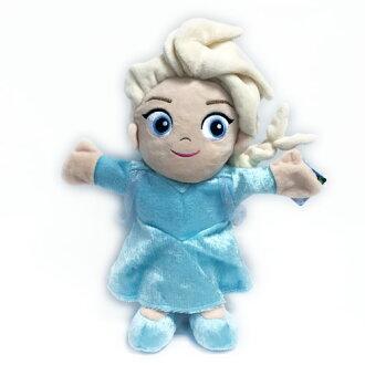 ㊣正版迪士尼授權㊣《 絨毛系列 》27 公分艾莎公主手偶