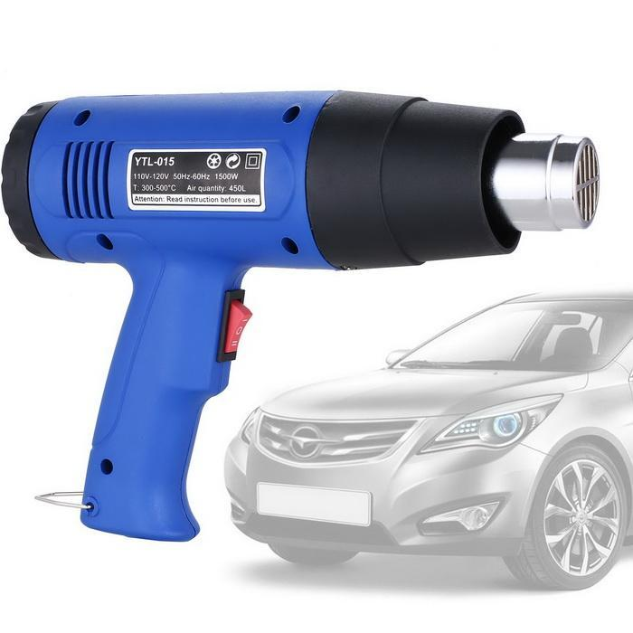 Heat Gun Hot Air Gun Dual Temperature+4 Nozzles Power Tool 1500W Heater Gun 0