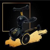 【領卷折300】奧地利 Scoot & Ride Cool飛滑步車/滑板車(黑金)-麗兒采家-媽咪親子推薦