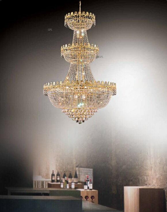 大型黃金水晶吊燈
