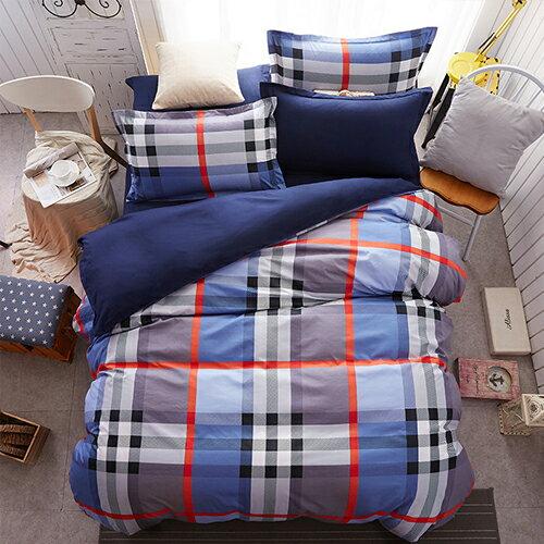 哇哇購:柔絲絨專利魔術兩用被床包組雙人五件式-名品藍哇哇購