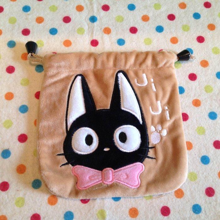 =優生活=宮崎駿魔女宅急便黑貓KIKI束口袋 收納袋 行動充收納包 束口包